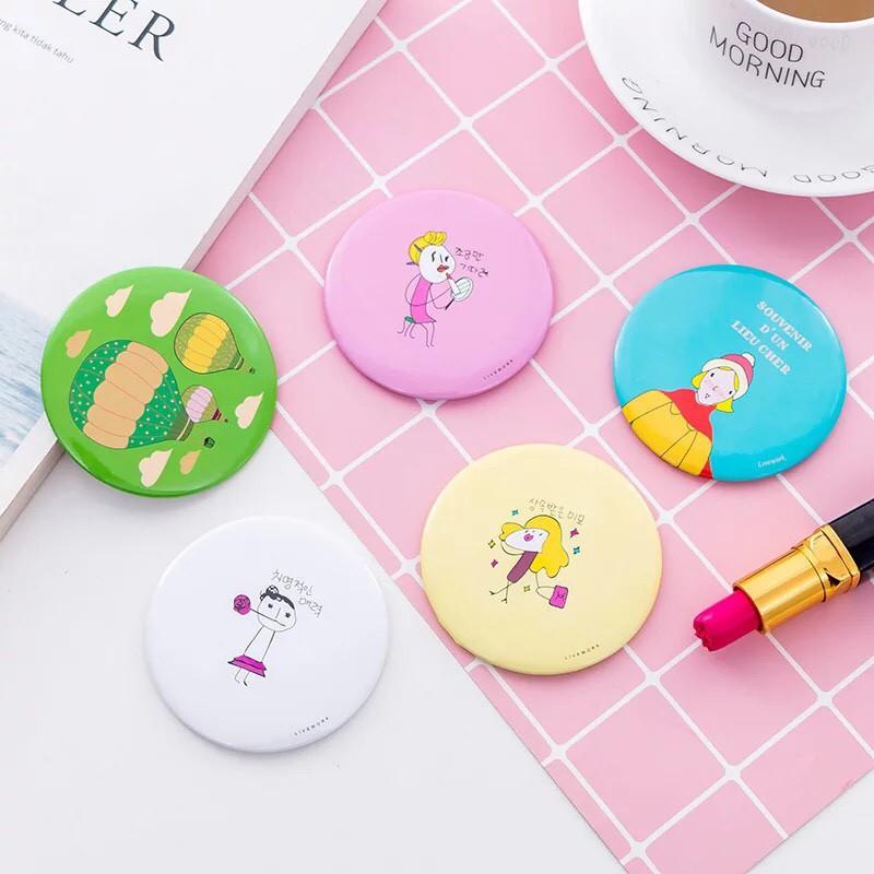 Gương mini cần tay nhỏ gọn siêu xinh phong cách Hàn Quốc - 00069 nk032