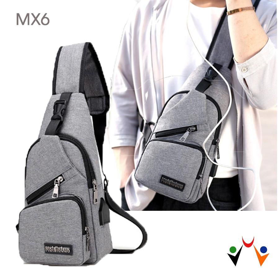 [Flash sale] Túi đeo chéo trước ngực nam nữ MX6 - Video sản phẩm ? - 3004007 , 416956364 , 322_416956364 , 250000 , Flash-sale-Tui-deo-cheo-truoc-nguc-nam-nu-MX6-Video-san-pham--322_416956364 , shopee.vn , [Flash sale] Túi đeo chéo trước ngực nam nữ MX6 - Video sản phẩm ?