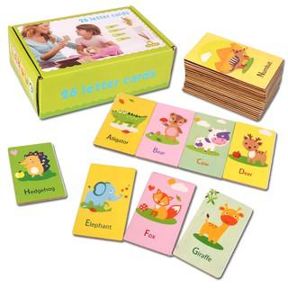 Bộ thẻ gỗ 26 chữ cái tiếng anh và hình động vật