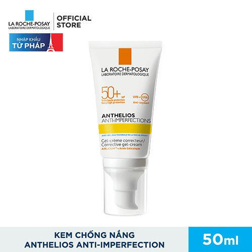 Kem chống nắng giúp bảo vệ da dành cho da bóng dầu, dễ nổi mụn La Roche-Posay Anthelios Anti-Imperfection 50ml