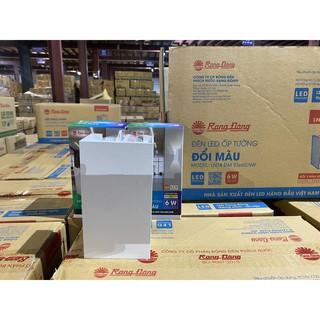 Đèn LED ốp tường hắt sáng 2 đầu đổi 3 màu ánh sáng Rạng Đông 6W Model: LN18 83×60/6W