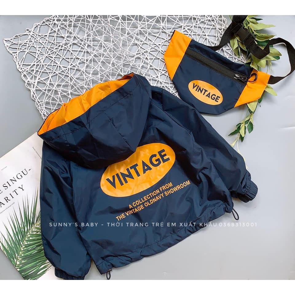 áo khoác gió OLD vintage xuất dư kèm túi cho bé trai giảm chỉ còn 257,250 đ