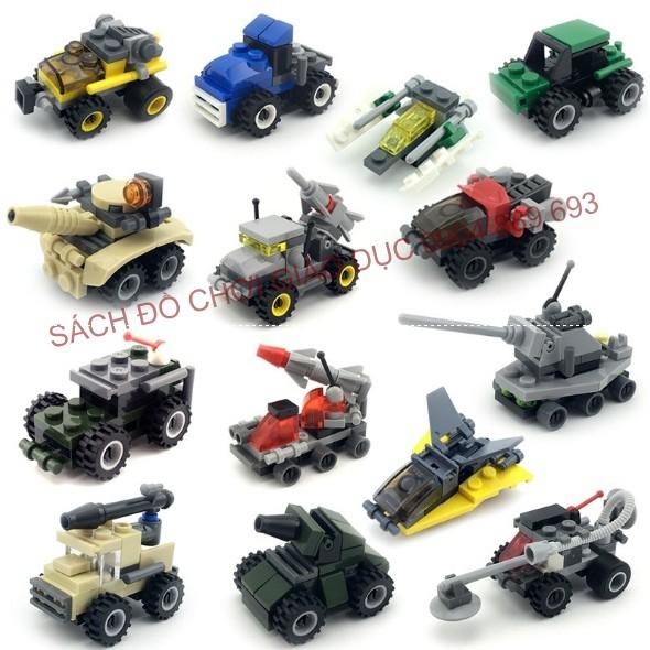 Lego kazi ít chi tiết chủ đề phương tiện giao thông - Bé tập làm quen LEGO