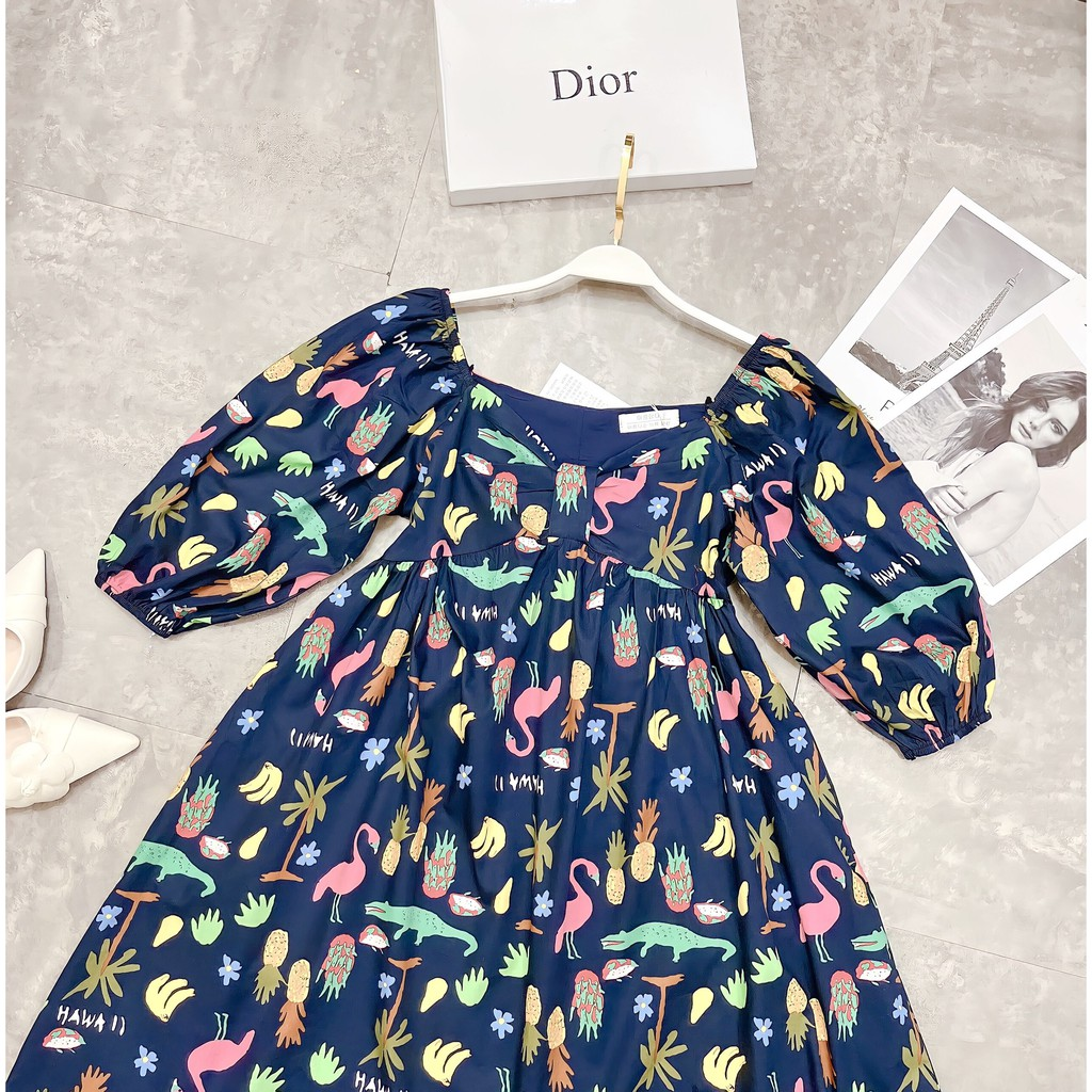 [Ảnh thật/video] Đầm babydoll siêu dễ thương Váy babydoll họa tiết độc lạ