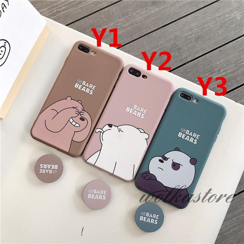 Ốp điện thoại hình chú gấu kèm giá đỡ cho iPhone 6/6S/6P/6SP/7/7P/8/8P/X/XS/XR/XS MAX