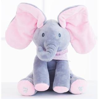 Music Doll Elephant Electric Singing Plush Toy
