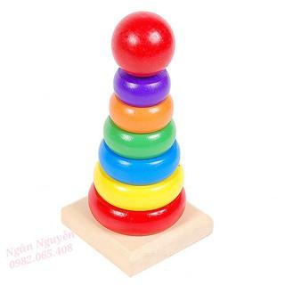 Đồ chơi vòng gỗ xây tháp