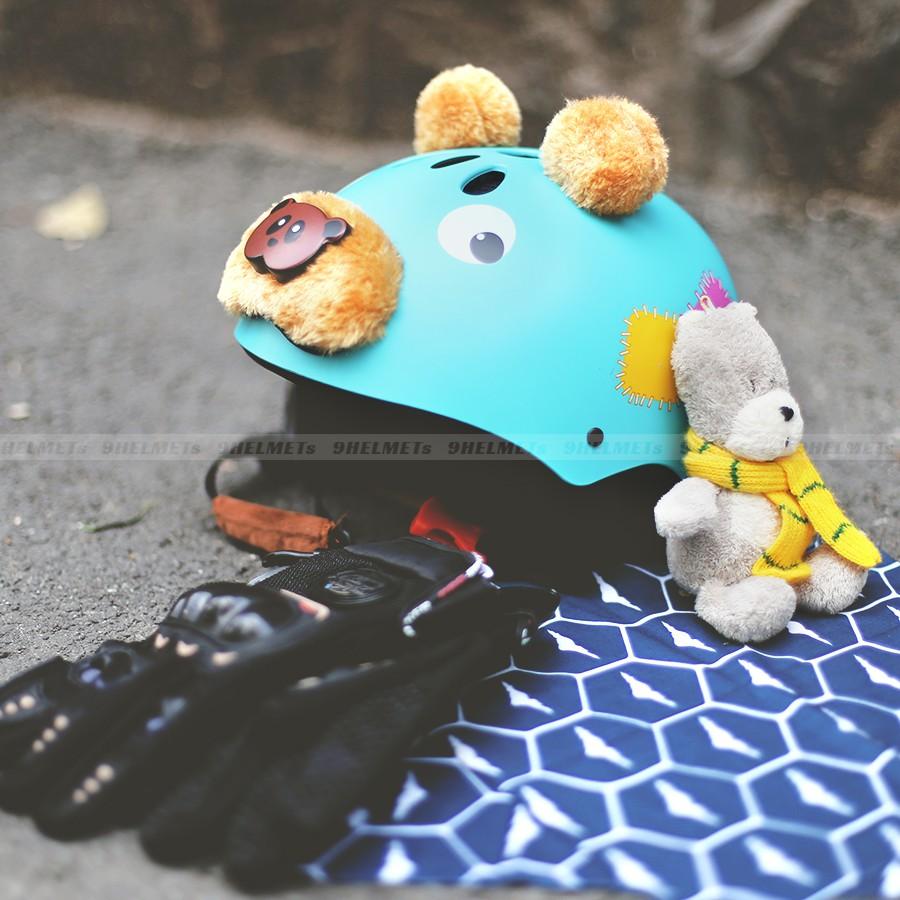 Mũ Bảo Hiểm Trẻ Em Gấu Xanh Biển