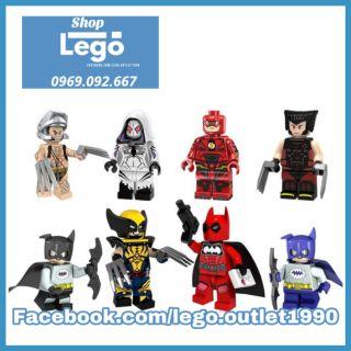 Xếp hình Lego Người Sói Wolverine Batpool Spider Gwen Flash Batmite Ninja Strike Weapon-X Lego Minifigures Pogo Pg8147 thumbnail