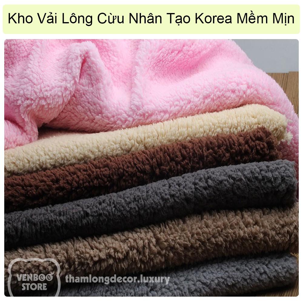 🐑 1m x 1m5 Kho vải lông cừu giá rẻ mềm mịn
