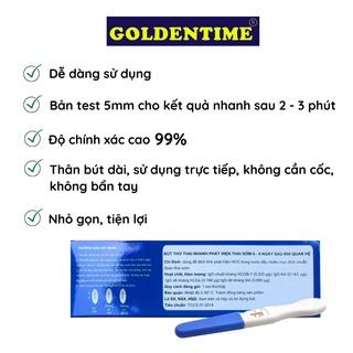Que thử thai bút thử thai test nhanh độ chính xác cao của Goldentime 8
