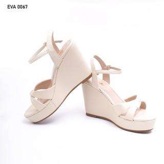 Sandal Đế Xuồng Quai Chéo Mũi Tròn Da PU 9cm Evashoes - Eva0067 thumbnail