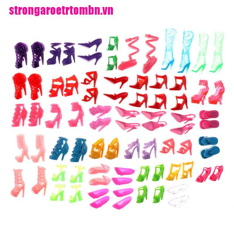 【Omvn】80pcs Mixed Different High Heel Shoes Boots for Doll Dresses Clothes