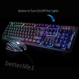PC Bàn Phím Cơ Có Dây Gắn Đèn Led Cho Máy Tính / Laptop