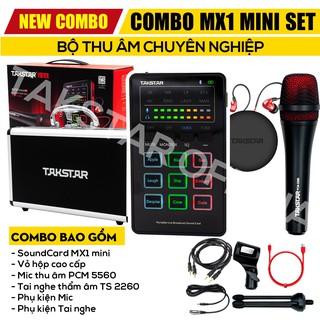Combo thu âm TAKSTAR MX1, combo thu âm, Combo hát karaoke, livestream, trọn đủ bộ thumbnail