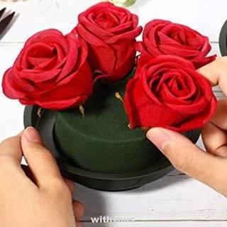 Bộ 12 Chậu Hoa Bằng Xốp Hình Tròn Màu Xanh Lá Dùng Trang Trí Tiệc Cưới / Sân Vườn