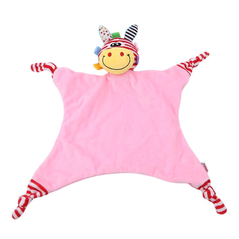 Baby Towel Super Soft Cute Animal Comforting Doll Plush Soothe Appease Baby Towel