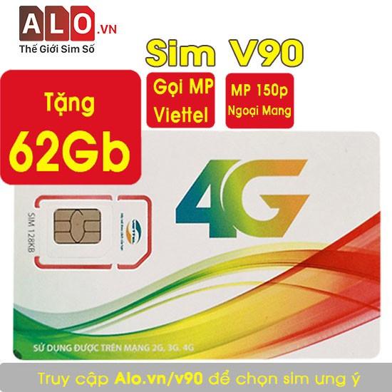 [V90 FREE THÁNG ĐẦU] Miễn Phí 62Gb Data + Miễn Phí Gọi Viettel Và Sim F90 Miễn Phí 5Gb Data + Gọi Viettel MP