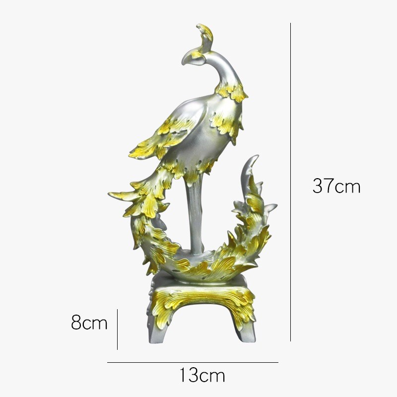 Tượng chim công tài Lộc