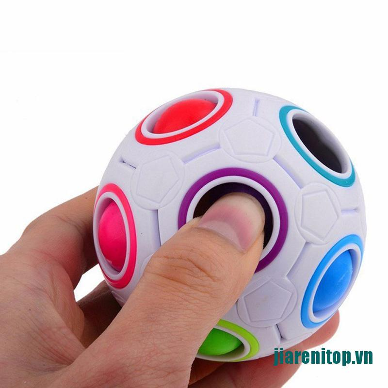 【new】Magic Rainbow Ball Cube Speed Puzzle Ball Kids Educational Learning Funny Toys