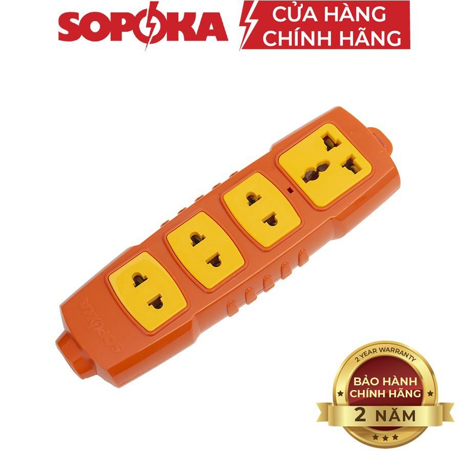 Ổ cắm điện SOPOKA công suất 6000W lõi sứ,chịu tải, chống cháy,chống va đập mạnh/ Ổ cắm SOPOKA 2S-6000W, 4S-6000W, P6000W