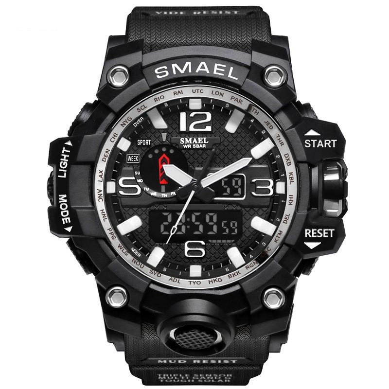 [ Free Ship ] Đồng hồ nam điện tử thể thao chống nước SMAEL chính hãng DH01