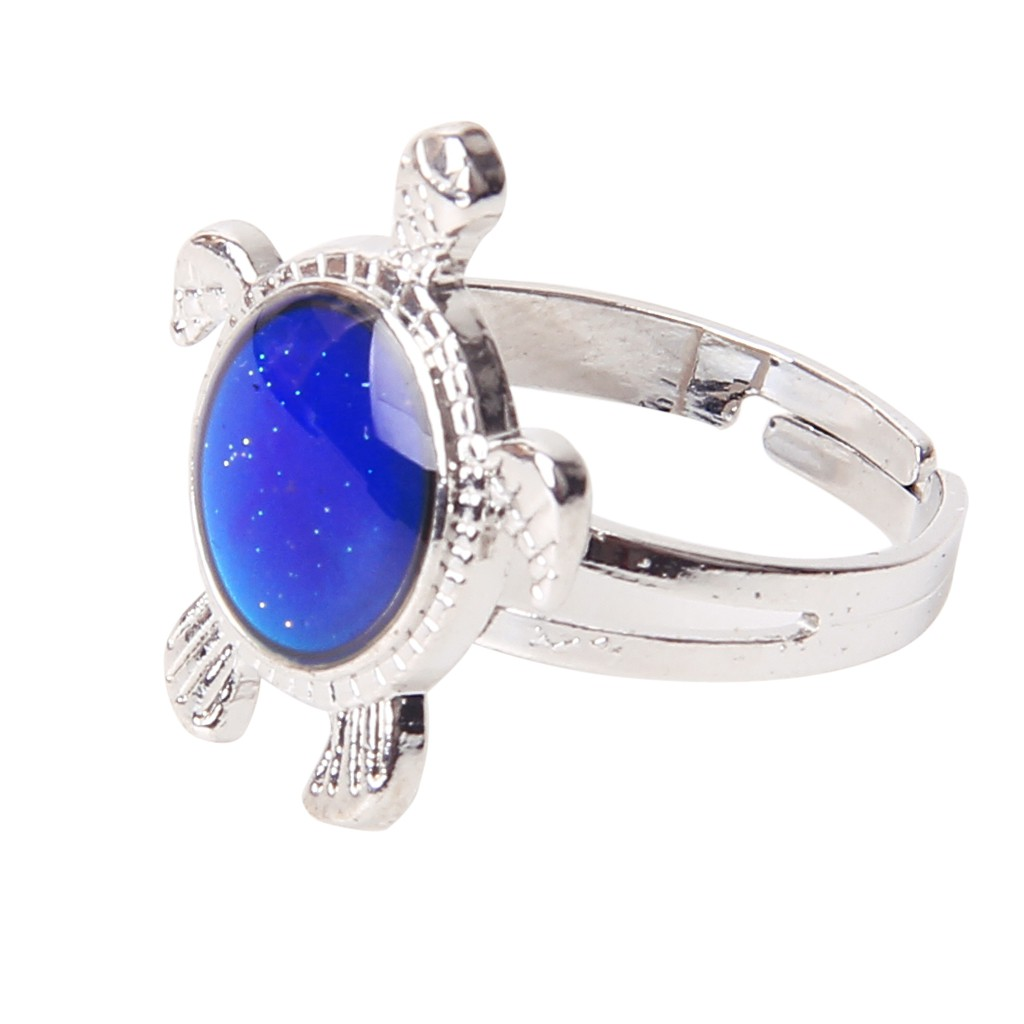 Turtle Color Change Mood Ring Adjustable