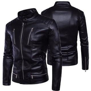 Áo khoác da nam lót dù 6 dây kéo cao cấp Gabo Fashion AKD23