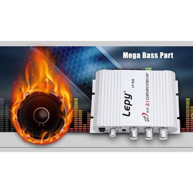 [SALE 10%] Amply mini công suất chạy mạch Lepy LP-838 12V
