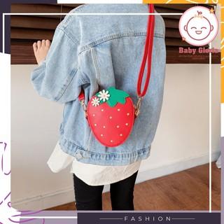 Túi đeo chéo thời trang cho bé- trái dâu tây-cute