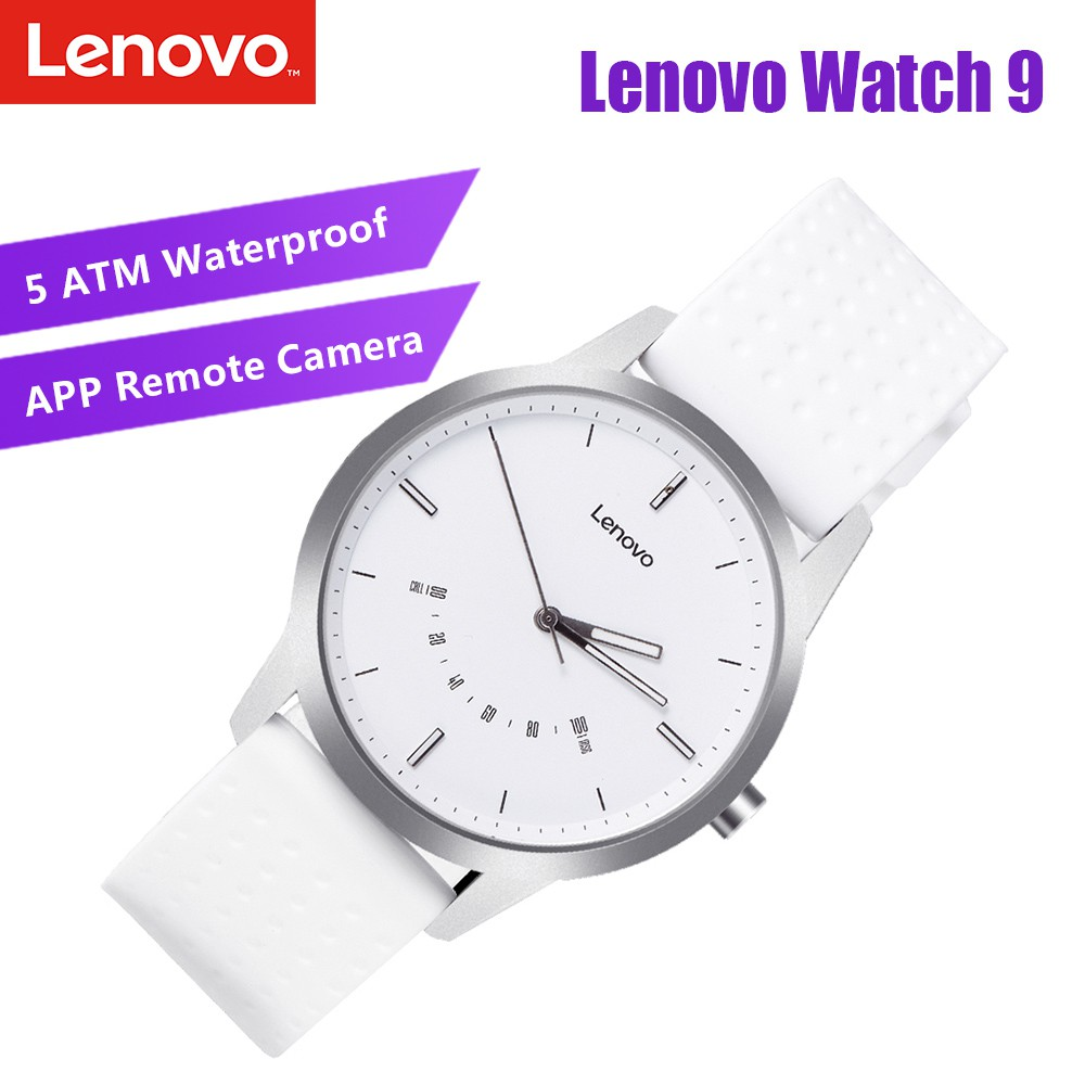 Lenovo Watch 9 Smart Watch 50ATM Waterproof Mechanical-electronic Timer  Steel Casing Luminous Pointer Fitness Tracker Intelligent Pedometer Calorie  Calls Reminding Vibration Alarm
