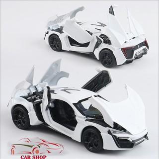 Xe mô hình hợp kim siêu xe Lykan Hypersport tỉ lệ 1:32 màu trắng