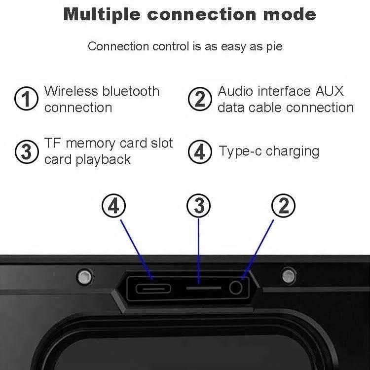[Mã ELTECHZONE giảm 5% đơn 500K] Loa Bluetooth 40W công suất lớn Super Bass chống nước IPX7 pin 6600MAH DSP