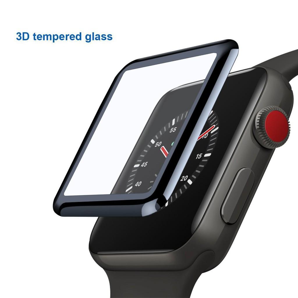 Kính cường lực cong 3D cho đồng hồ thông minh Apple Watch Series 1 2 3 38mm  42mm