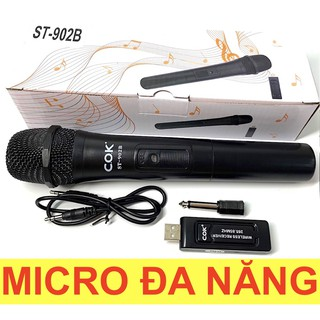 Micro Karaoke không dây Bluetooth đa năng cao cấp V10 COK dành cho loa kéo, loa bluetooth, amply hát karaoke
