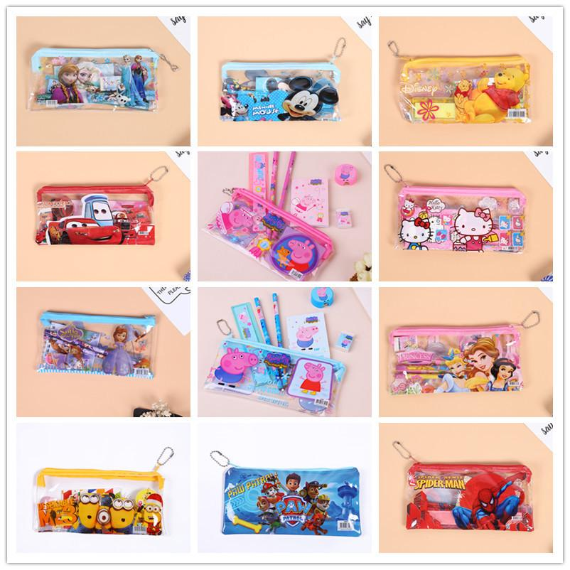 7Pcs/Pack Pencil Case Stationery Set Children Students Birthday Party Bag Set
