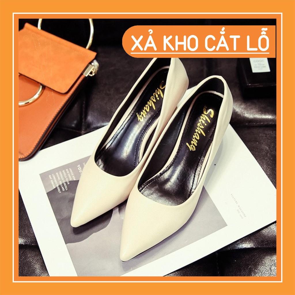 (Sẵn be, size 35, 40) Gót 5 Cm, Size 35 - 40, Có Ảnh Thật - Giày Cao Gót Nữ Hàn Quốc - XN0112