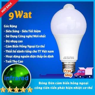 Bóng đèn led Cảm biển chuyển động, Cảm Ứng Thân nhiệt Thiết kế cho thị trường VN Siêu Nhạy, Siêu Tiết Kiệm Độ sáng cao
