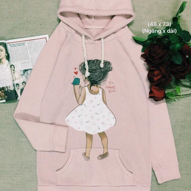 Áo hoodie usa hồng