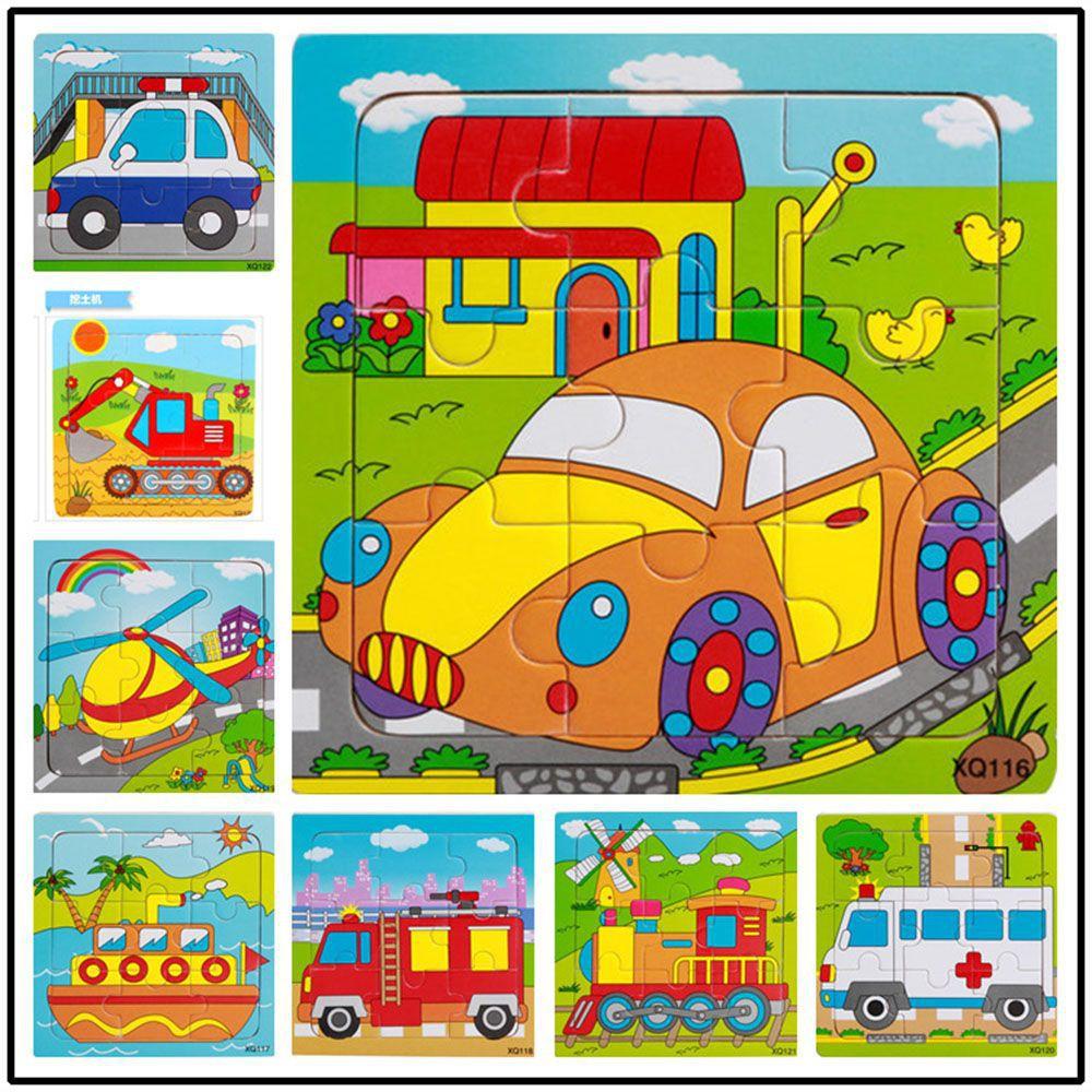 Đồ chơi xếp hình phương tiện giao thông bằng gỗ cho bé