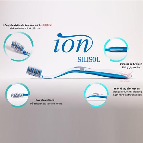 Bàn chải đánh răng Hàn Quốc ION SILISOL (3 màu)
