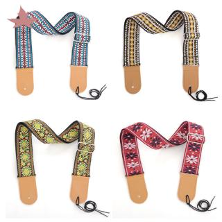 Universal Ethnic Style Embroidery Strap for Steel String Guitar Acoustic Guitar Electric Guitar