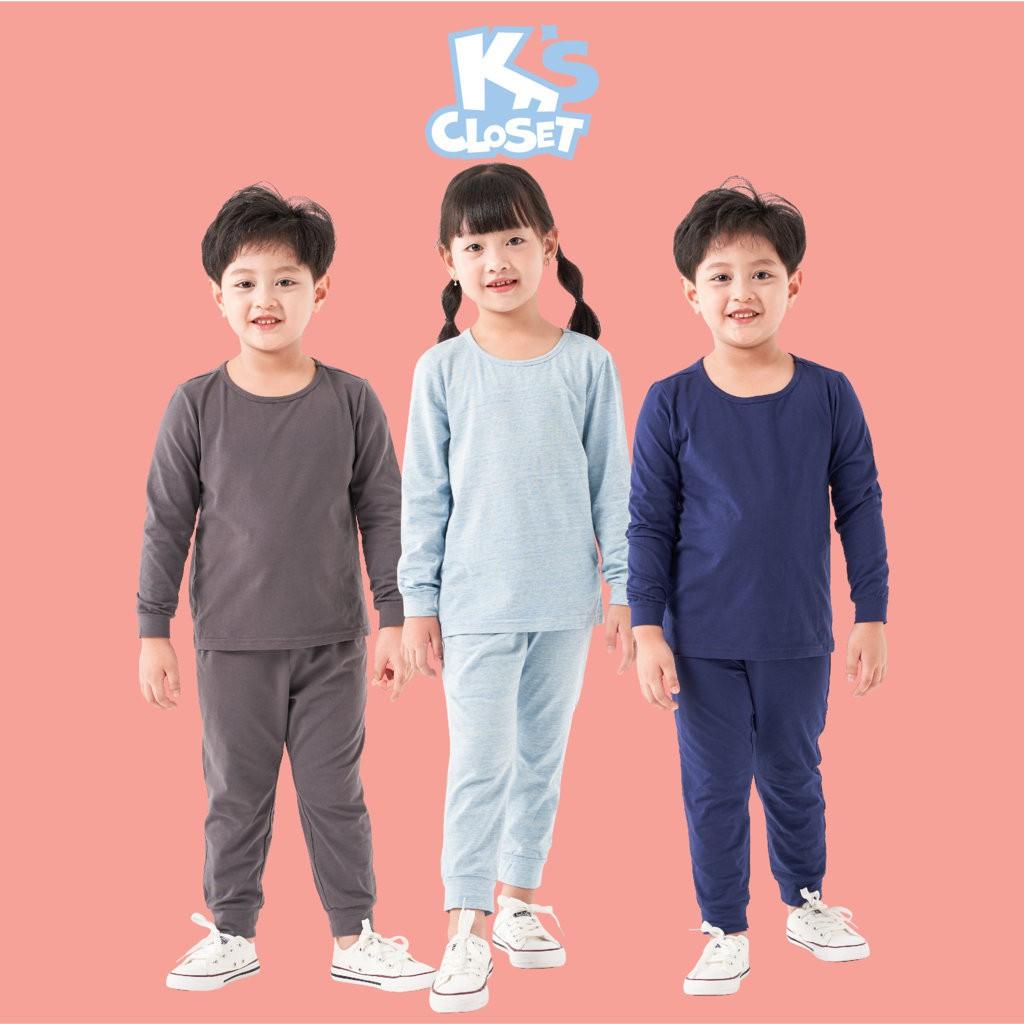 Bộ Quần Áo Dài Tay Cho Bé Trai Và Bé Gái (1-9 Tuổi) K's Closet E014TEF TM