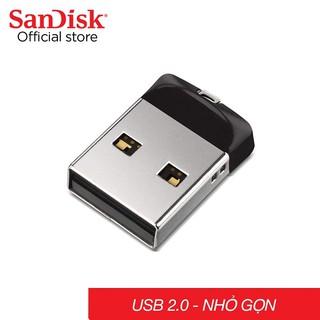 [Mã ELFLASH5 giảm 20K đơn 50K] Usb Sandisk 4G 8G 16G 32G 64G SDCZ33 mini 2.0