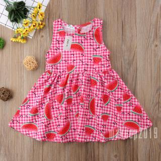 Mu♫-New Toddler Girls Princess Dress Kids Baby Party Wedding Sleeveless Dresses Cute