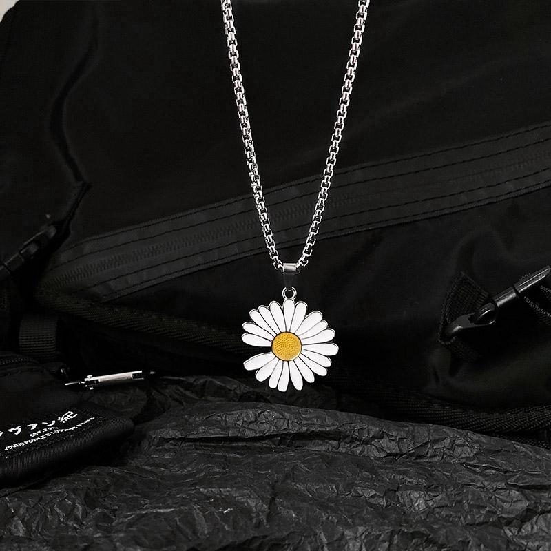 🔥🔥 Dây chuyền mặt hình hoa cúc phong cách GD Hàn Quốc thời trang cho nam nữ