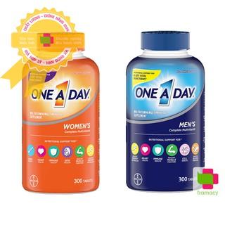 Vitamin tổng hợp One A Day Men s Women s Multivitamin, Mỹ (300v) tăng sinh lực, miễn dịch cho nam nữ giới dưới 50 tuổi thumbnail