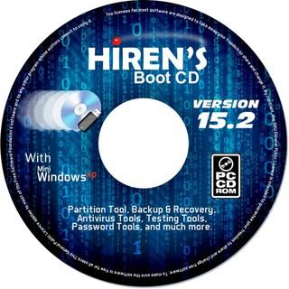 Đĩa CD Hiren's Boot 15.2 – cứu hộ máy tính