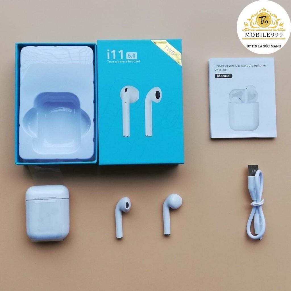 Tai nghe bluetooth i11 TWS cảm biến vân tay công nghệ 5.0 - Cảm Ứng Siêu Nhạy Âm Hay Sâu Lắng