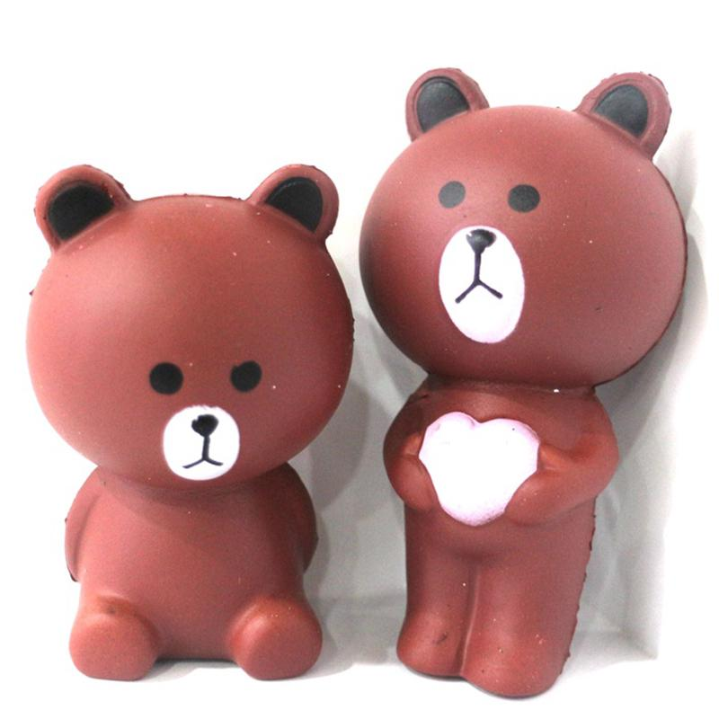 [ready stock]Squishy Doll Soft Kawaii Hand Pillow Squeeze Slow Rising Toy Stress Relief Bear